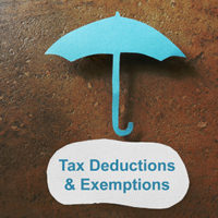Tax deduction concept